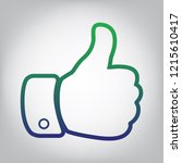 hand sign illustration. vector. ... | Shutterstock .eps vector #1215610417