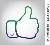 hand sign illustration. vector. ... | Shutterstock .eps vector #1215610417