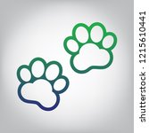 animal tracks sign. vector.... | Shutterstock .eps vector #1215610441