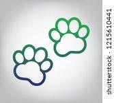 animal tracks sign. vector.... | Shutterstock .eps vector #1215610441