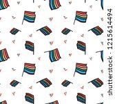 hand drawn colorful lgbt flag... | Shutterstock .eps vector #1215614494