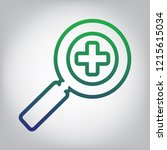 zoom sign illustration. vector. ... | Shutterstock .eps vector #1215615034