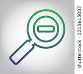 zoom sign illustration. vector. ... | Shutterstock .eps vector #1215615037