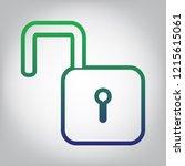 unlock sign illustration.... | Shutterstock .eps vector #1215615061