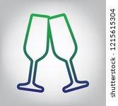 sparkling champagne glasses.... | Shutterstock .eps vector #1215615304