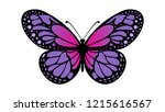 color butterfly pattern | Shutterstock .eps vector #1215616567