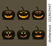 Set Of Dark Pumpkins For...