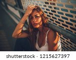 portrait of young woman | Shutterstock . vector #1215627397