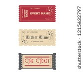 ticket template designs | Shutterstock .eps vector #1215632797
