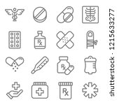 medical vector line icon set.... | Shutterstock .eps vector #1215633277