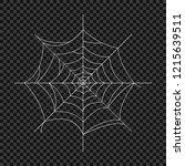 cobweb. vector spider web.... | Shutterstock .eps vector #1215639511