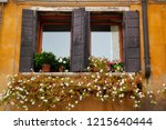 view of house windows with... | Shutterstock . vector #1215640444