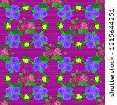 vector seamless pattern in... | Shutterstock .eps vector #1215644251