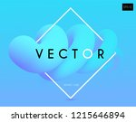 3d gradient design. colorful... | Shutterstock .eps vector #1215646894