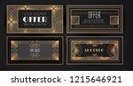 elegant vintage card templates... | Shutterstock .eps vector #1215646921