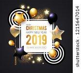 happy new 2019 year  shining... | Shutterstock .eps vector #1215647014