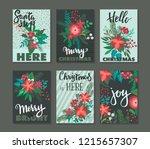 set of 6 vertical winter... | Shutterstock .eps vector #1215657307