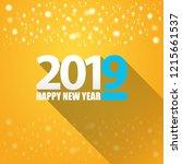 2019 happy new year creative... | Shutterstock .eps vector #1215661537