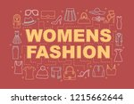 women's fashion word concepts...
