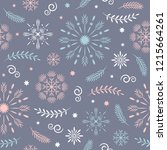 seamless pattern  seasons... | Shutterstock .eps vector #1215664261