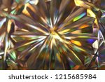 rays gold rainbow.blurred... | Shutterstock . vector #1215685984