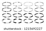 set of black  grunge frames.... | Shutterstock .eps vector #1215692227