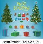 christmas and new year elements.... | Shutterstock .eps vector #1215696271
