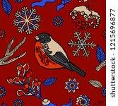 winter seamless pattern design. ...   Shutterstock .eps vector #1215696877