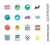 indoor icon set. vector set... | Shutterstock .eps vector #1215701437