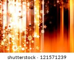 abstract xmas golden brown background illustration - stock photo