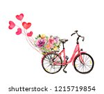 Pink Bicycle With Hearts And...