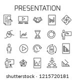 presentation related vector... | Shutterstock .eps vector #1215720181
