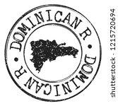 dominican republic silhouette... | Shutterstock .eps vector #1215720694