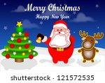 merry christmas | Shutterstock .eps vector #121572535