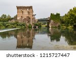 medieval fortifications of... | Shutterstock . vector #1215727447