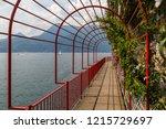 pedestrian promenade along como ... | Shutterstock . vector #1215729697