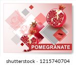 vector pomegranate.realistic... | Shutterstock .eps vector #1215740704