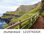 the giant's causeway is an area ... | Shutterstock . vector #1215742324