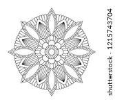 isolated mandala in vector.... | Shutterstock .eps vector #1215743704