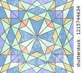 vintage geometric seamless...   Shutterstock .eps vector #1215744634