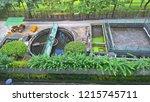 water treatment turbine machine ... | Shutterstock . vector #1215745711