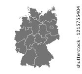 administrative map of germany... | Shutterstock .eps vector #1215755404