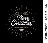 merry christmas vector text... | Shutterstock .eps vector #1215758437