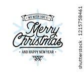 merry christmas vector text... | Shutterstock .eps vector #1215758461