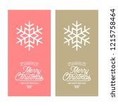 vector merry christmas and... | Shutterstock .eps vector #1215758464