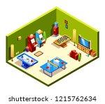 isometric cross section... | Shutterstock . vector #1215762634