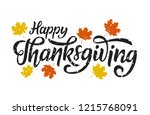happy thanksgiving greeting.... | Shutterstock .eps vector #1215768091