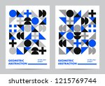 abstract template poster design.... | Shutterstock .eps vector #1215769744