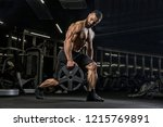 attractive tall muscular... | Shutterstock . vector #1215769891