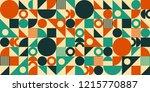 abstract geometric mid century... | Shutterstock .eps vector #1215770887